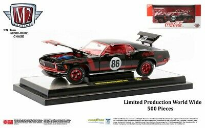 $0.99 • Buy Chase 1970 FORD MUSTANG BOSS 302 #86 BLACK  COCA-COLA  1/24 M2 50300-RC02