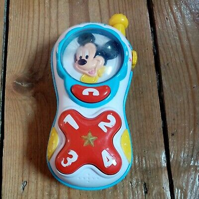 £4 • Buy Disney Mickey Mouse Plastic Light-Up Mobile Phone Toy Working