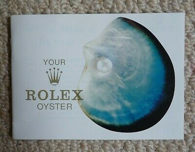 £24.99 • Buy Vintage Your Rolex Oyster Owners Booklet 1970s - RARE