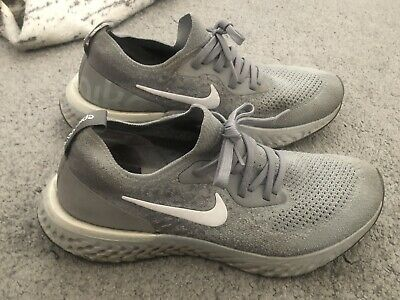 £30 • Buy Nike Epic React Flyknit Woman's Size UK 5.5 Grey And White Trainers