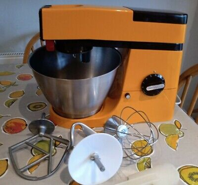 £49.99 • Buy Vintage Orange & Brown Kenwood A901e Super Chef Mixer With Bowl & Attachments