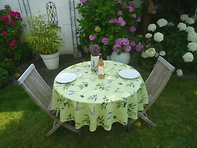£16.31 • Buy Tablecloth Provence 160 CM Round Olives Green France Non-Iron Easy-Care