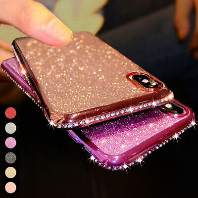 AU7.98 • Buy Case For IPhone 12 11 Pro Max XR 7 8 Plus Glitter Diamond Silicone Plating Cover