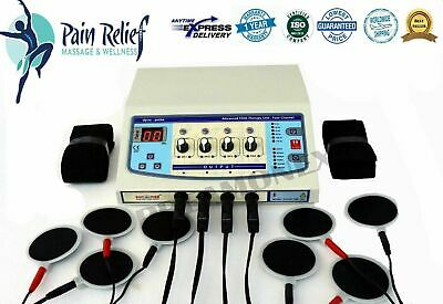 £118.99 • Buy Electrotherapy 4 Channel Physical Therapy 8 Electrodes Best Machine