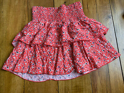 £1.50 • Buy H M Girls Skirt. Size 6. Elastic Waist. Red Floral Pattern