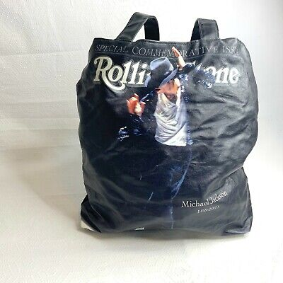 £17.86 • Buy Michael Jackson Rolling Stone Vinyl Covered Lined Commerative Issue Tote Bag