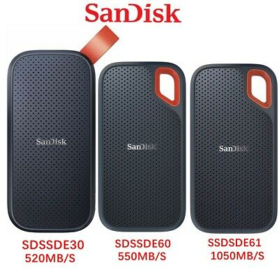 AU149.95 • Buy SSD SanDisk Extreme 250GB 500G 1T 2TB Portable External Solid State Drive USB