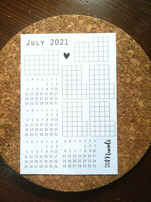 AU3.50 • Buy July Bullet Journal Monthly Kit, Diary Planner Stickers, Mini Calendar