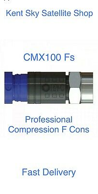 £10.95 • Buy F COMPRESSION CT100 WF100 RG6 CABLES CMX100 PRO SINGLE CABLE Fs