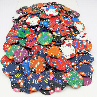 £14.99 • Buy 300 X Crown & Dice 14g Clay Composite Poker Chips - PRINT PRODUCTION REJECTS