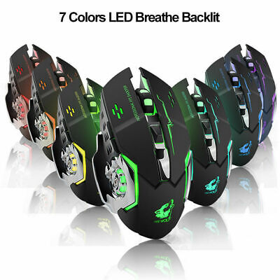 AU17.85 • Buy X8 Wireless Gaming Mouse Rechargeable Silent Mouse LED Backlit For PC Laptop Mac