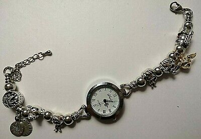 £11.99 • Buy Handmade Silver HARRY POTTER Themed Watch Bracelet With 8 Charms - GRYFFINDOR