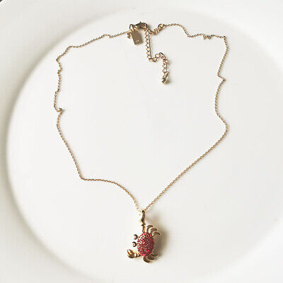 $ CDN12.58 • Buy New 18  Kate Spade Crab Pendant  Necklace Best Gift Fashion Women Party Jewelry