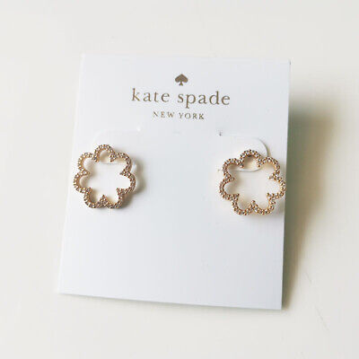 $ CDN11.32 • Buy New Kate Spade CZ Floral Stud Earrings Gift Fashion Women Party Holiday Jewelry