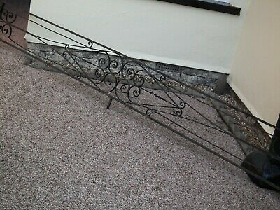 £150 • Buy Wrought Iron Low Fence / Wall Topper / Garden Edging / Railing 3 Long / 2 Curved