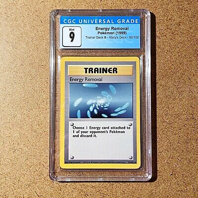 $400 • Buy 1999 Pokemon Trainer Deck B Misty's Deck Energy Removal Graded By CGC 9 Mint