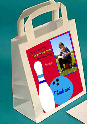 £1.80 • Buy Bowling Personalised Party Bags With Photo  THANK YOU BAG