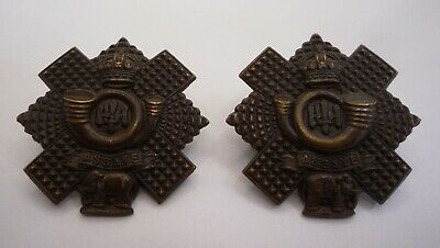 £19.99 • Buy Highland Light Infantry Pair Of Officers Collar Badges