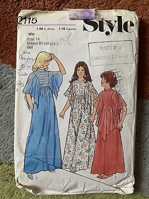 £4 • Buy Vintage 80s Style 2115 Girls Bridesmaid Party Dress Sewing Pattern Size 14, 81cm