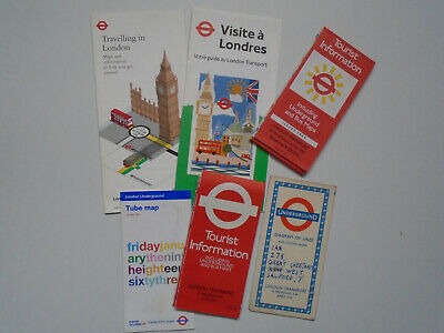 £6.99 • Buy Old London Transport Underground Diagram Of Lines & Tube Maps X6. 1960's On.