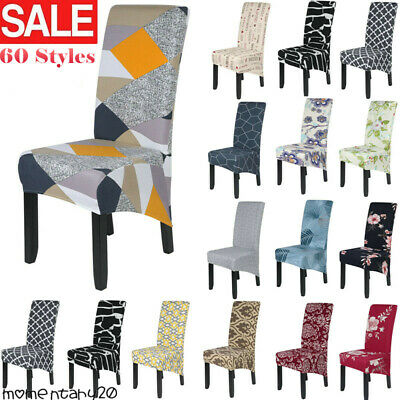 £3.69 • Buy Dining Chair Cover Stretch High Back Seat Cover Protective Slipcover Cushion