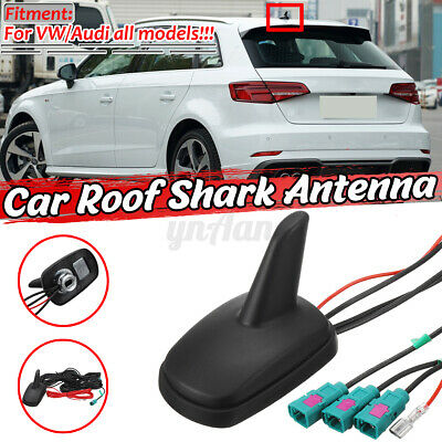 £21.69 • Buy Shark Fin Car Aerial DAB AM FM GPS Roof Mount Antenna Universal For Audi VW