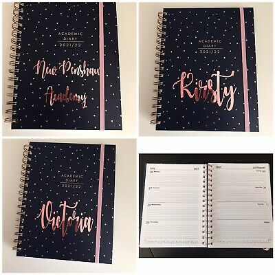 £8 • Buy Personalised A5 Academic Diary 2021 2022 Week To View