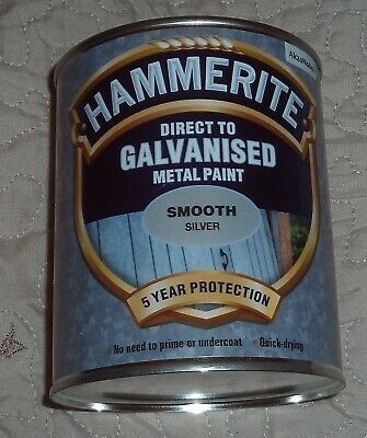 £21.95 • Buy Hammerite Direct To Galvanised Metal Paint - Silver - Smooth - 750ml