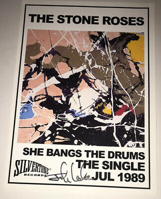£39.99 • Buy SIGNED JOHN LECKIE THE STONE ROSES SHE BANGS THE DRUM 12x8 PHOTO RARE AUTHENTIC