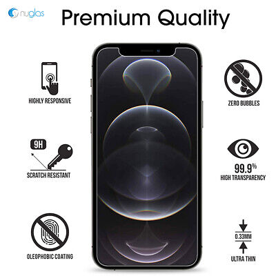 AU9.95 • Buy 2x Screen Protector Nuglas Tempered Glass For IPhone 12 Pro Max With Applicator
