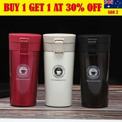 AU16.99 • Buy Insulated Travel Coffee Mug Cup Thermal Stainless Steel Flask Vacuum Thermos AU