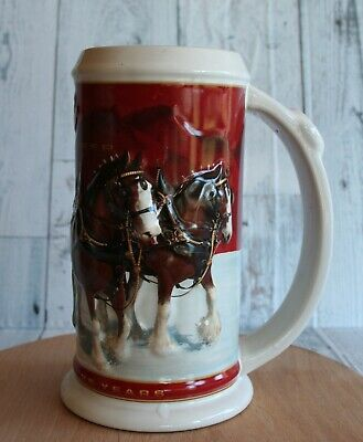 $ CDN37.34 • Buy 1980-2004 Budweiser Annual Holiday Stein 25 Years Of Clydesdale Stein Christmas
