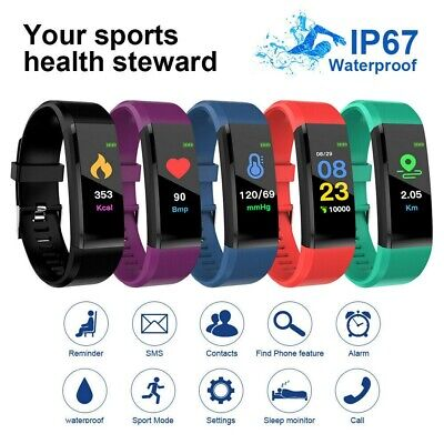 AU12.99 • Buy Smart Watch Band Sport Fitness Activity Tracker For Kids Fit Bit IOS Android