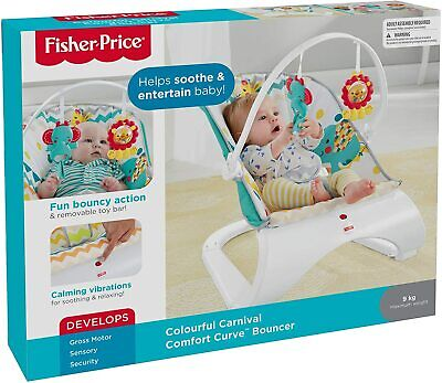 £44.99 • Buy Fisher Price Colourful Carnival Comfort Curve Bouncer FDG32 Discounted