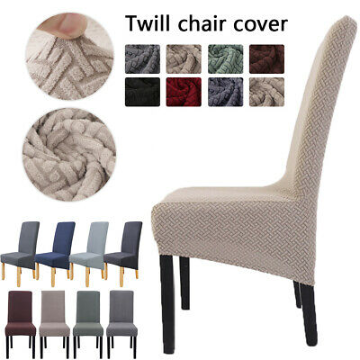 £6.65 • Buy Twill Knit Stretch High Back Removable Chair Slipcovers Dining Chair Covers UK