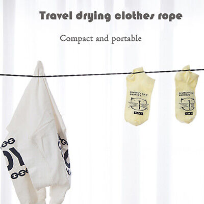 £2.73 • Buy 1pc 2.5M Travel Clothesline Outdoor Camping Non-Slip Clothes Line Suction CuSG