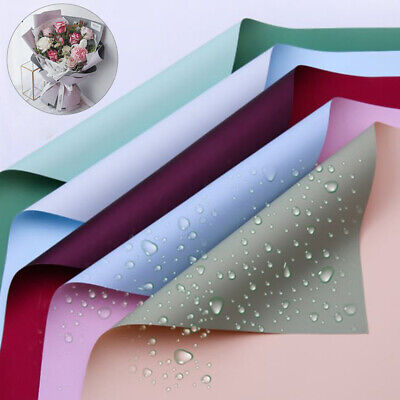 £5.46 • Buy 20Pcs Waterproof Two-tone Paper Flower Wrapping Paper Flower Bouquet SupplieSG