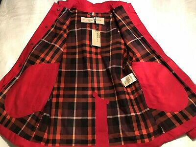 $599.99 • Buy NEW Men's Burberry Brit Rain Jacket Removable Hood In Red Size Large