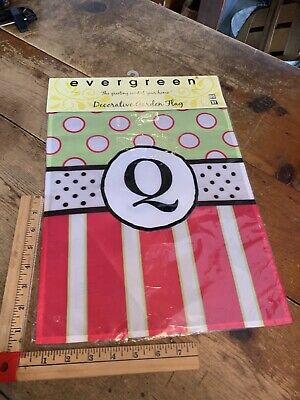 $ CDN20.77 • Buy Q Initial Welcome Personalized Garden Flag 12 X18  Stripes
