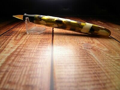 £72 • Buy Vintage  Brian  Fountain Pen-Translucent Yellow With Black & White Spots-Japan