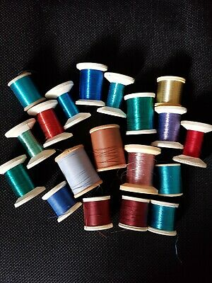 £60 • Buy 19 X Mixed Spools Of Rod Whipping Threads