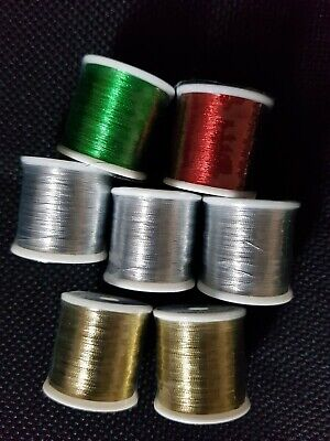 £55 • Buy 7 Sppols Of PacBay Metallic Rod Whipping Thread- Grade A 100yrd Spools
