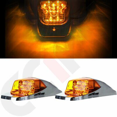 $31.79 • Buy 2pcs Mid Roof Cab Marker Clearance Light Amber Led For Mack Pinnacle CHU