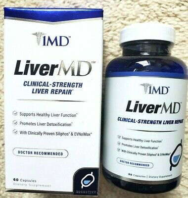 $62.95 • Buy 1MD LiverMD Clinical Strength Liver Repair Milk Thistle Extract New 60 CAPS