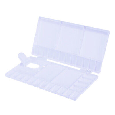 £5.31 • Buy 1PC Plastic Painting Pallet Watercolor Folding Paint Tray With 33 Compartments
