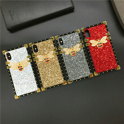 AU7.89 • Buy Square Crystal Glitter Bee Phone Case For OPPO A57 R11S R9S F9 R17 R15 Realme X