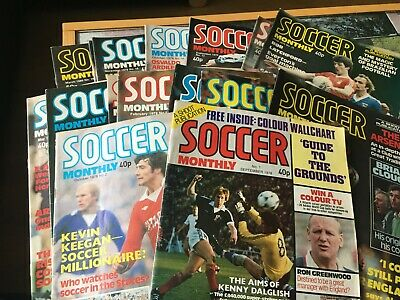 £4 • Buy SOCCER MONTHLY Magazines Published By Shoot ! 1978 1979 1980 - Choose From List