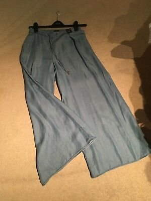 £20 • Buy River Island Trousers Size 10 Palazzo Pants £25.00 New £36.00 Blue Elasticated