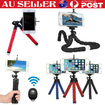 AU12.65 • Buy Universal Mobile Phone Holder Tripod Stand With Remote For IPhone Camera Samsung