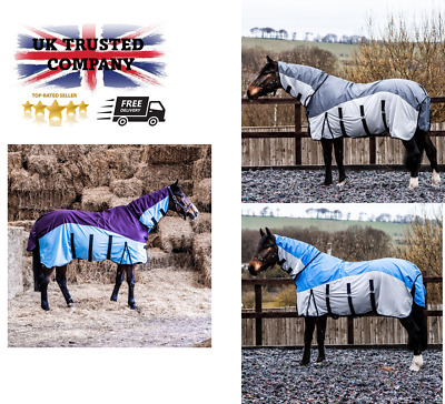 £41.99 • Buy 2 In 1 Waterproof Fly Turnout Mesh Horse Rug With Fixed Neck